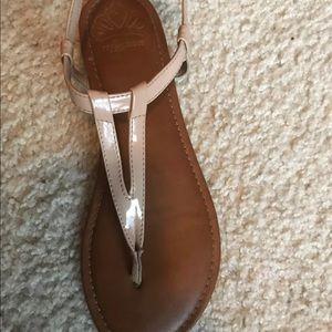Tan Fergalicious Sandals Size 7